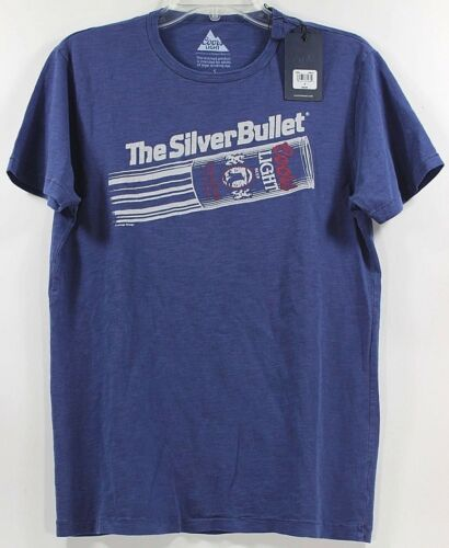 Lucky Brand Coors Light The Silver Bullet Beer Blue T-Shirt Tee