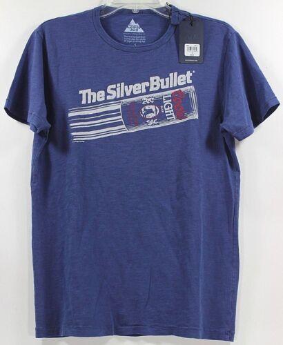 Lucky Brand Coors Light The Silver Bullet Beer Blue T-Shirt Tee