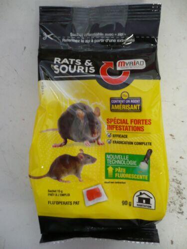 raticide souricide pate fluorescente fortes infestations myriad ERADIC