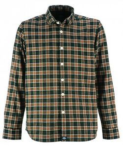 Dickies-OLDENBURG-Size-XL-Men-039-s-Regular-Fit-Long-Sleeve-Shirt-Shirt-green-green