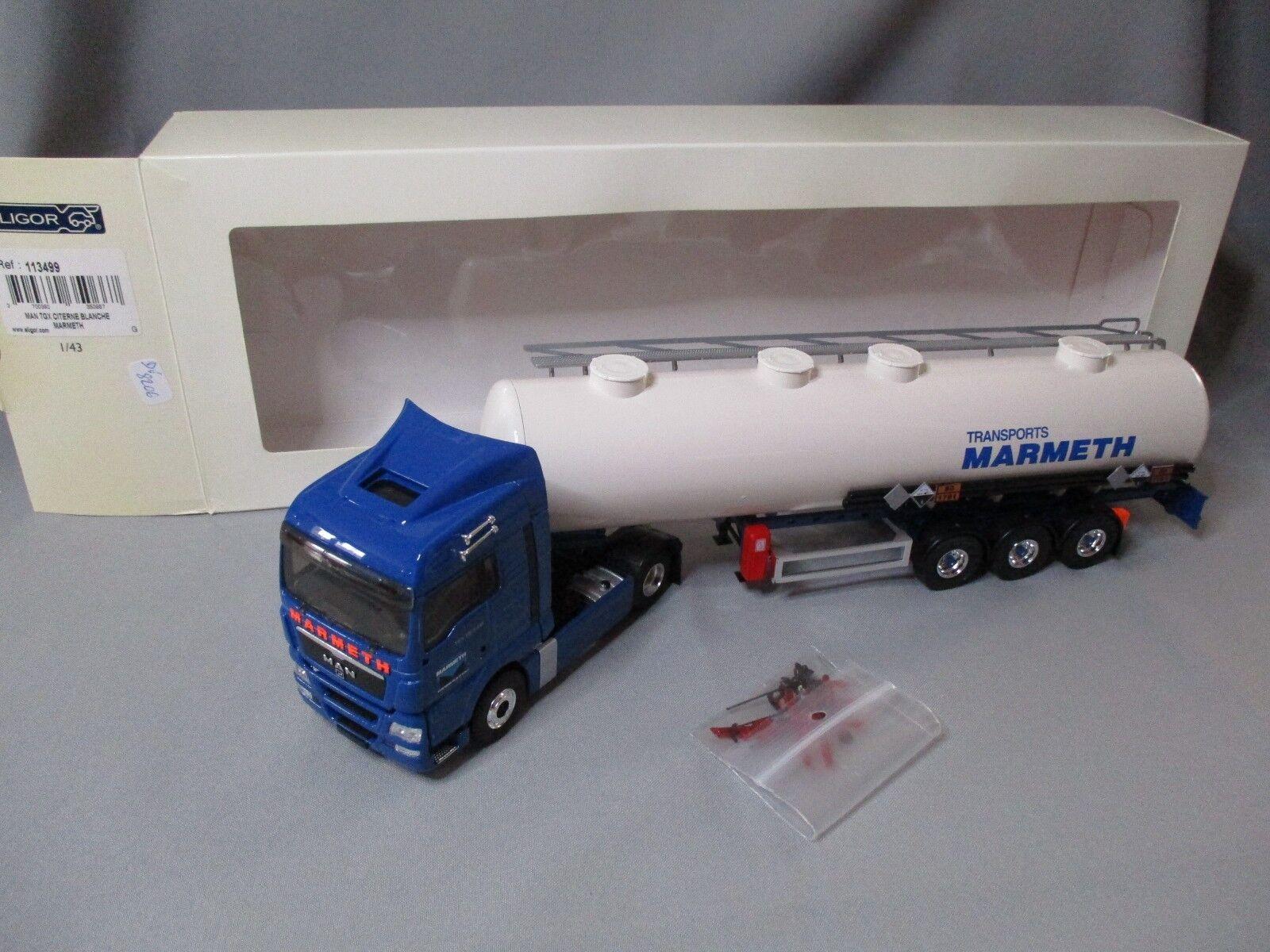 Dv8206 eligor 1 43 man tgx tank white semi transport marmeth 113499
