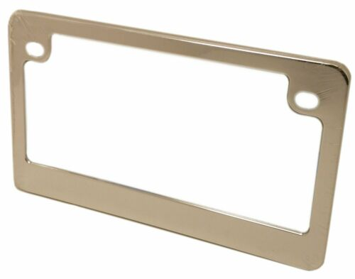 Chrome License Plate Frame For Motorcycles Metal 92775 New