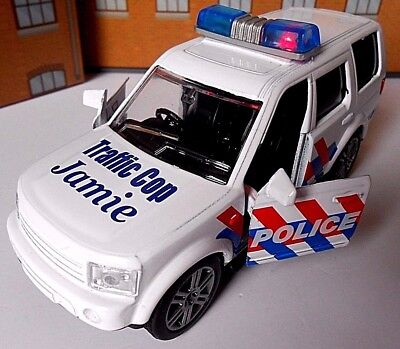 POLICE CAR PERSONALISED TOY CAR *SOUND & LIGHT* MODEL boy girl CHRISTMAS PRESENT