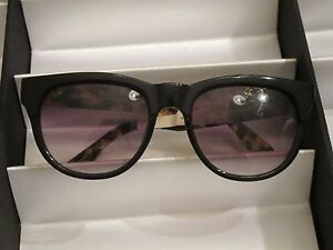 f44e25ab37 Image is loading Sama-Sunglasses-Marlowe-Black-Tortoise-Sz-53-NWOT-