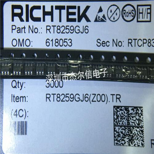 20 x RT8259GJ6 C5= RT8259PJ6 RT8259 SOT23 1.2A 24V 1.4MHz Step-Down Converter