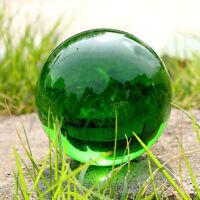 Green Asian Natural Quartz Magic Crystal Glass Ball Healing Sphere Stand 40mm
