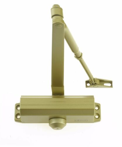Gold Fire Rated Overhead Door Closer 1 Hour Adjustable Steel Tested Size 3 60kg