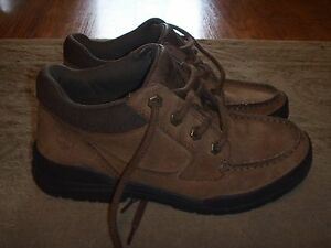 ff852d4c39e3 Image is loading TIMBERLAND-Trekker-Brown-MocToe-Oxford-Shoes-Boys-Size-