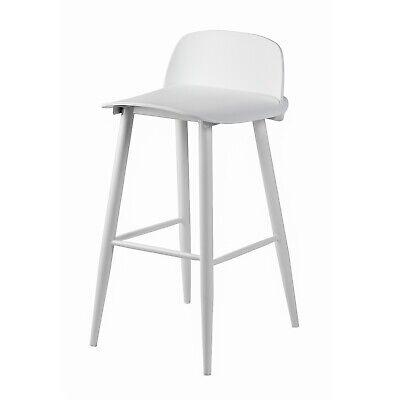 White Bar Stools White Muuto SoCo Nerd Replica Danish Style ...