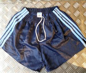 Véritable Adidas Shorts Rétro Vintage Des Années 1980. 3 Rayures Endommagé Toutes Tailles-afficher Le Titre D'origine