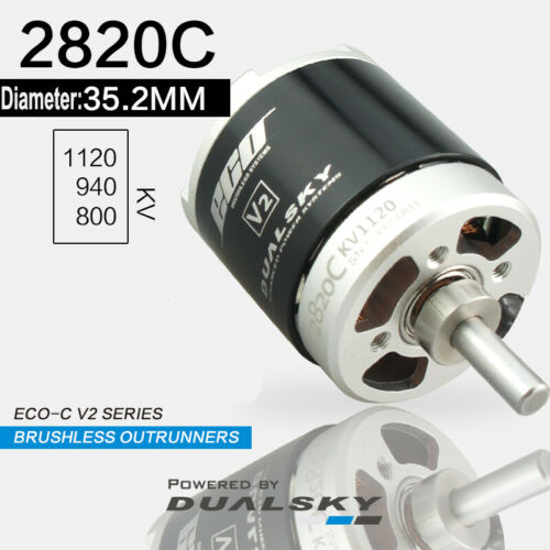 DUALSKY Motors ECO-C V2 2820C Brushless Outrunners KV 1120//940//800 Dia 35.2mm RC