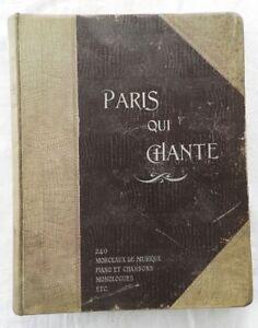 PARIS-QUI-CHANTE-1903-06-240-MORCEAUX-DE-MUSIQUE-CHANSONS-etc-PHOTOS