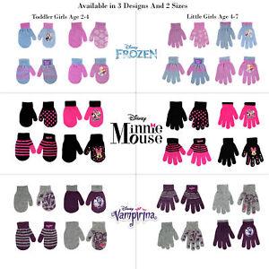 Disney-Assorted-Designs-4-Pair-Gloves-Mittens-Cold-Weather-Set-Girls-Age-2-7