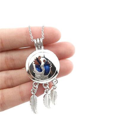 "K786 Stainless Chain 20/"" Unicorn Dream Catcher Locket Horse Necklace"