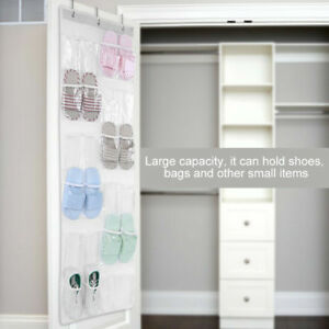 Transparent-Door-Hanging-Bag-Shoe-Rack-Hanger-Storage-Tidy-Organizer-24-Pockets