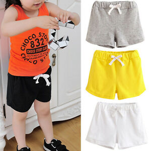 verano-infantil-bebe-nino-nina-shorts-Playeros-corto-Pantalon-De-Chandal