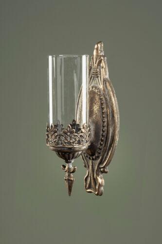 Hänge-Laterne Metall Shabby Vintage Antik Gold Windlicht Landhaus Wandlaterne