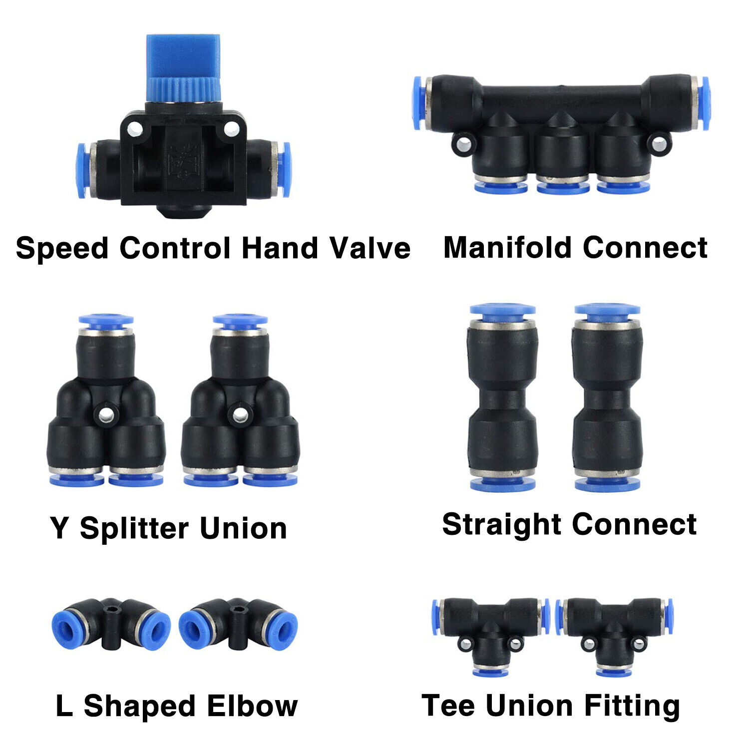 DERNORD 10 Pack Plastic Push to Connect Fittings Tube Connect 4 Mm to 4 Mm Push Fit Fittings Tube Fittings Push Lock Quick Connect Fittings 4mm Or 5//32 OD
