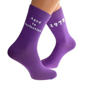 Aged to Perfection 1978 Printed Design Ladies Pink Socks 40th Birthday Gift 2018