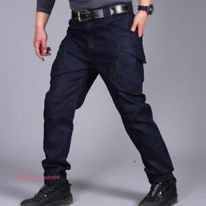 Men-Jeans-Tactical-Combat-Cargo-Pant-Hiking-Military-Multi-Pocket-Denim-Trousers