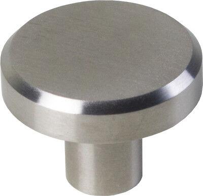 Möbelknopf Edelstahl gebürstet DM=32mm H= 24 mm Hochwertiger Knopf 2309
