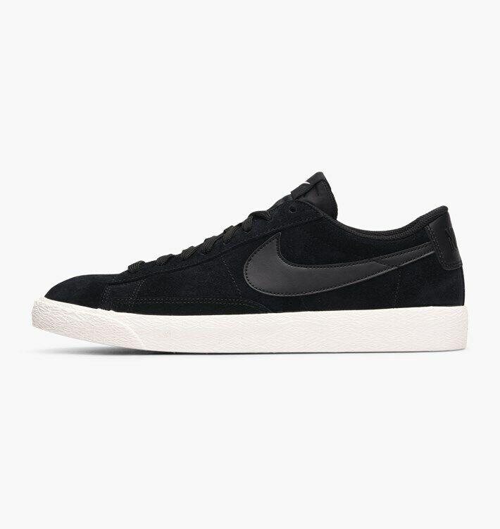 Nike Blazer Low Mens shoes Suede Street Classic Retro Black Sail Iced purplec
