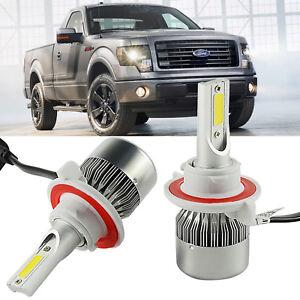 H13 9008 Led Headlight Bulbs Kit For Ford F150 Dodge Ram Pickup 1500