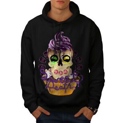 Ehrlichkeit Wellcoda Sweet Death Cupcake Mens Hoodie, Candy Casual Hooded Sweatshirt