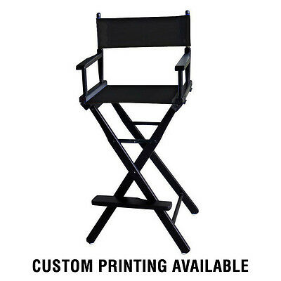 Solid Wood Tall Director or Makeup Chair Free Shipping Custom Printing Available