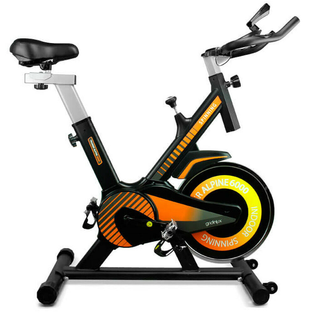 Bicicleta Spinning estática 10KG Pulsómetro Monitor LCD ALPINE 6000 Gridinlux
