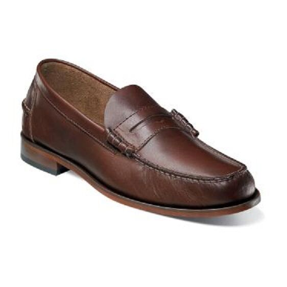 Florsheim Mens shoes Berkley Brown CH Leather Penny Loafer 17058-215