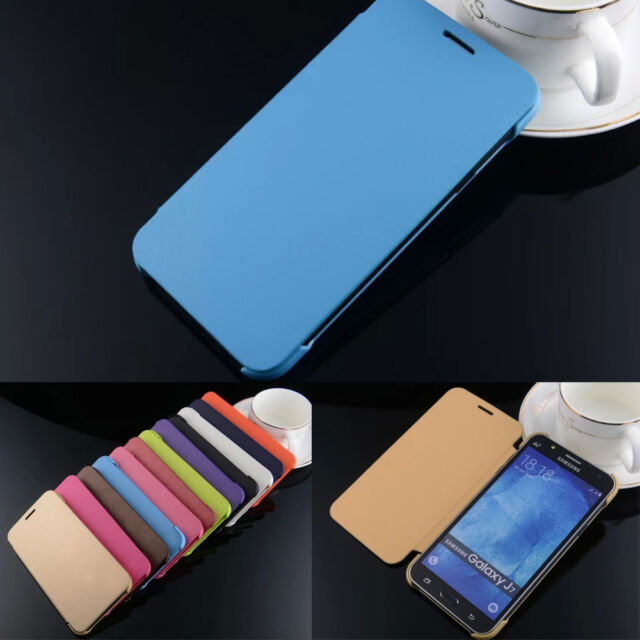 Simple Luxury Protective Folio Flip Hard Back Cover PU Leather Case For Samsung