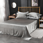 Satin-Silk-Flat-Bed-Sheet-with-Deep-Pocket-Twin-Full-Queen-King-Soft-amp-Smooth thumbnail 5