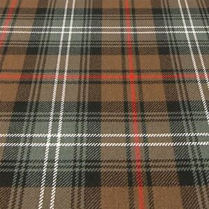 Heavy Weight Material 16oz Fabric Cameron Hunting Weathered Tartan 1 Metre