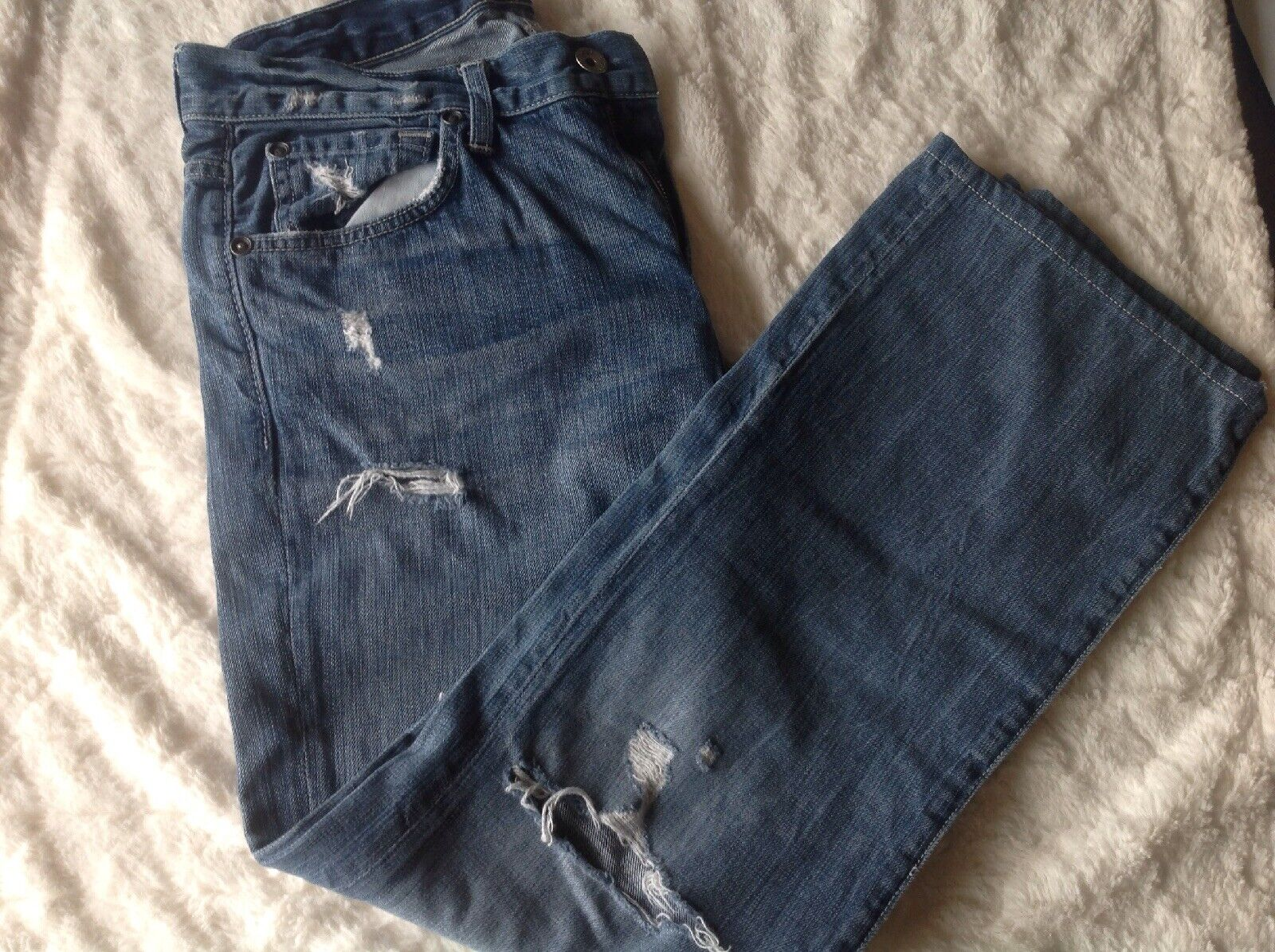7 for all mankind Mens Destructed Jeans W33 L30