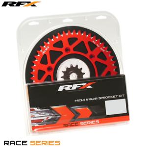 RFX Front & Rear Aluminium Red Sprocket Kit 13/50 Teeth RM125 RMZ250