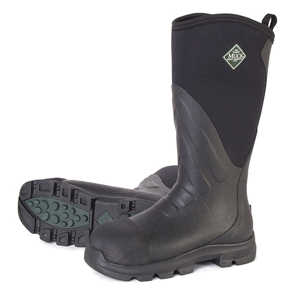 Muck Boot - Muck GRIT Black / Carbon Wellies - Hardcore Work Boot - All Sizes