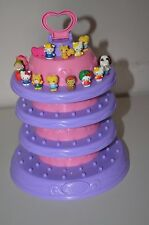 Hello Kitty + Animals Squinkies Figure Lot of 16 w/ Tower Display Blip 206