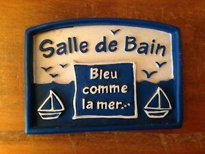 Details Sur Plaque De Porte En Resine Salle De Bains Decoration