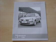 52535) Renault Clio B Preise & Extras Prospekt 03/2005