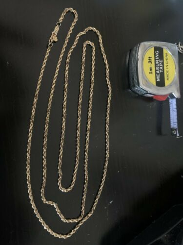 14k yellow gold necklace vintage