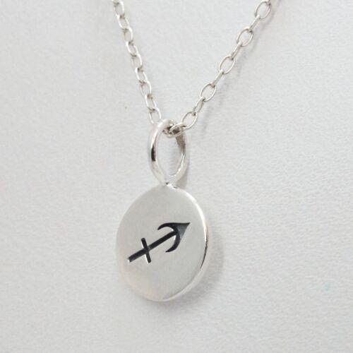 Stars Horoscope Zodiac Charm 925 Sterling Silver Tiny Sagittarius Necklace