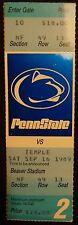 1989 Penn State Football Ticket Stub - Unused -  Temple game 2