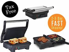 """Large Electric Panini Sandwich Maker Open Indoor Grill Press Toaster 55"""" Cook"""