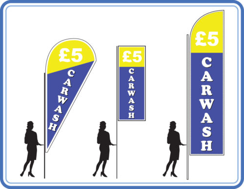 5 car wash flags, great for Car wash's Flags Banners UK 1