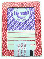 HARRAHS 4 Paquetes / Mazos Cartas Jugar Póquer Las Vegas Baraja Poker