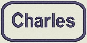 Embroidered Name for Uniform, work Shirt - Charles