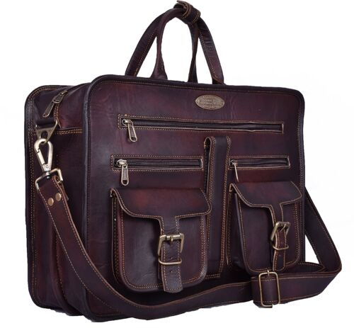 BRAND NEW GOAT LEATHER BRIEFCASE//SATCHEL SHOULDER STRAP