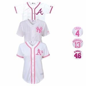 MLB-Majestic-Glitter-Fashion-Jersey-Collection-Girl-039-s-Size-7-16