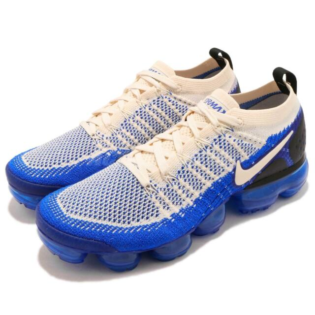 promo code 5b2f8 ebb64 Nike Vapormax Flyknit 2 Mens 10 Running Racer Blue Light Cream White  942842-204